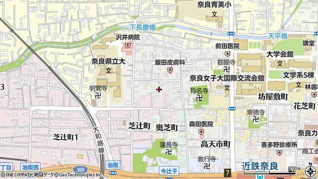〒630-8261 奈良県奈良市北市町の地図