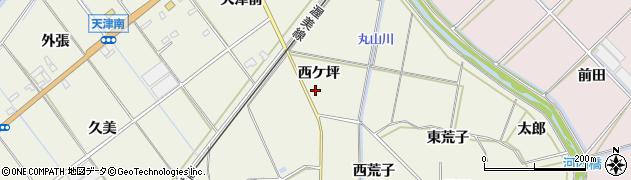 愛知県豊橋市杉山町(西ケ坪)周辺の地図