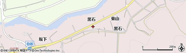 愛知県田原市白谷町(黒石)周辺の地図