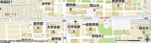 岡山県岡山市北区津島中周辺の地図