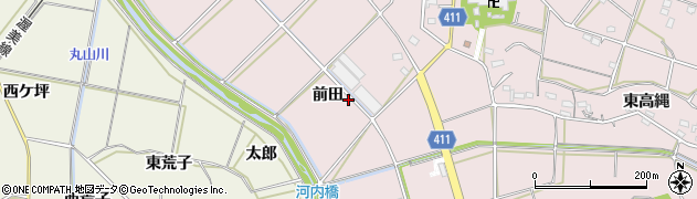 愛知県豊橋市老津町(前田)周辺の地図