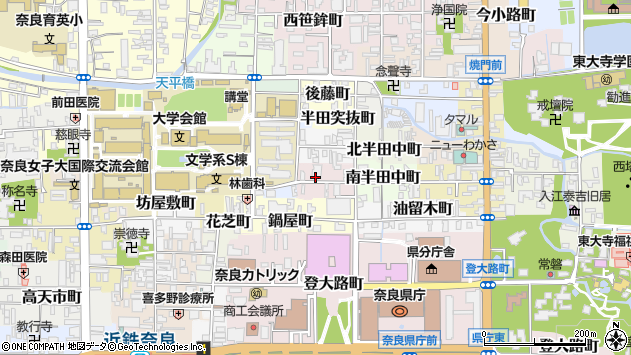 〒630-8282 奈良県奈良市南半田西町の地図