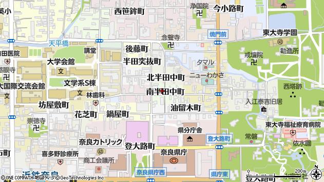 〒630-8281 奈良県奈良市南半田中町の地図