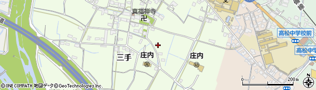 岡山県岡山市北区三手周辺の地図