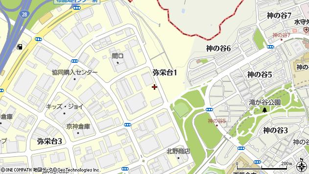 〒654-0161 兵庫県神戸市須磨区弥栄台の地図