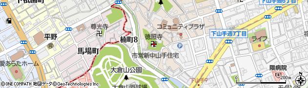 徳照寺周辺の地図