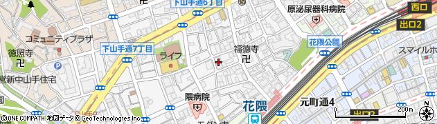 藤和シティホームズ神戸花隈周辺の地図