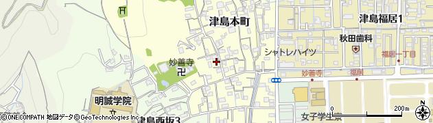 岡山県岡山市北区津島本町周辺の地図