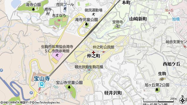 〒630-0267 奈良県生駒市仲之町の地図