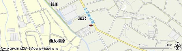 愛知県豊橋市寺沢町(深沢)周辺の地図