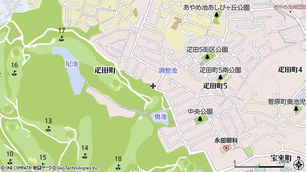 〒631-0843 奈良県奈良市疋田町の地図