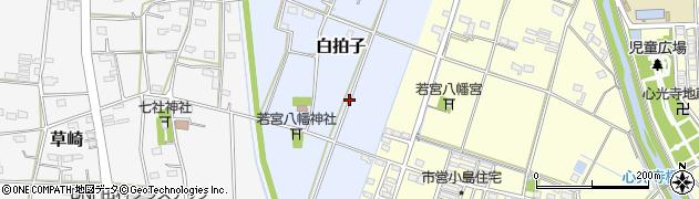静岡県磐田市白拍子周辺の地図