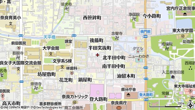 〒630-8276 奈良県奈良市北半田西町の地図