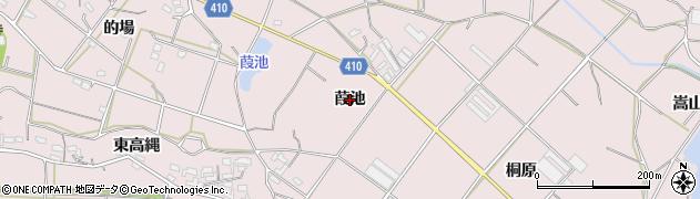 愛知県豊橋市老津町(葭池)周辺の地図