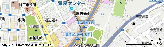 浜辺通4周辺の地図