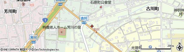 静岡県浜松市南区古川町周辺の地図