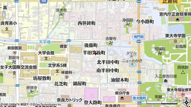 〒630-8295 奈良県奈良市半田突抜町の地図