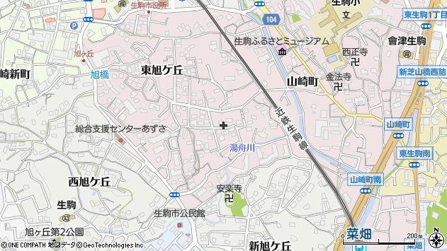 〒630-0254 奈良県生駒市東旭ケ丘の地図