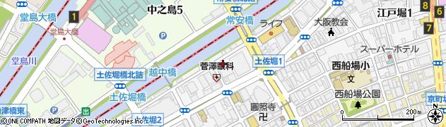 大阪府大阪市西区土佐堀周辺の地図