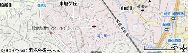 奈良県生駒市東旭ケ丘周辺の地図