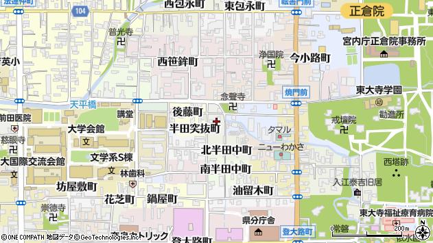 〒630-8294 奈良県奈良市押小路町の地図