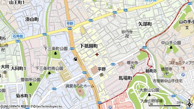 〒652-0015 兵庫県神戸市兵庫区下祇園町の地図