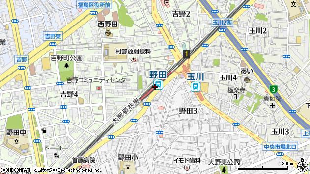 野田駅(大阪府大阪市福島区)の地図・口コミ・周辺情報│ ...