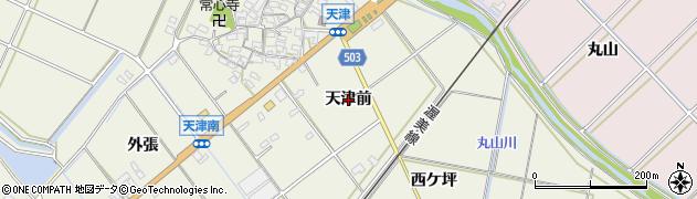 愛知県豊橋市杉山町(天津前)周辺の地図
