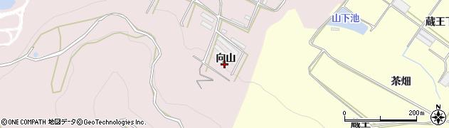 愛知県田原市片浜町(向山)周辺の地図