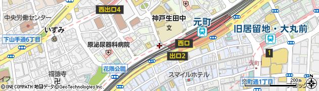 神戸生田中学南周辺の地図