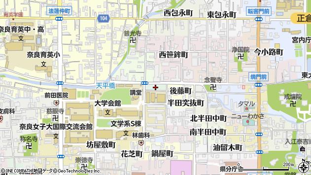 〒630-8285 奈良県奈良市北魚屋東町の地図