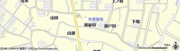 愛知県田原市吉胡町(瀬戸田)周辺の地図