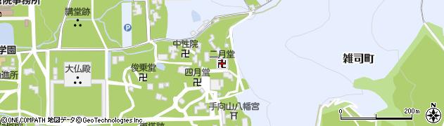 二月堂周辺の地図