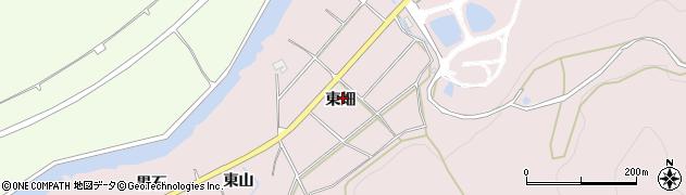 愛知県田原市白谷町(東畑)周辺の地図