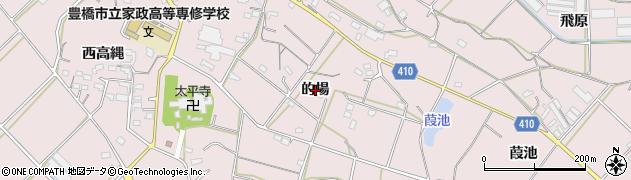愛知県豊橋市老津町(的場)周辺の地図