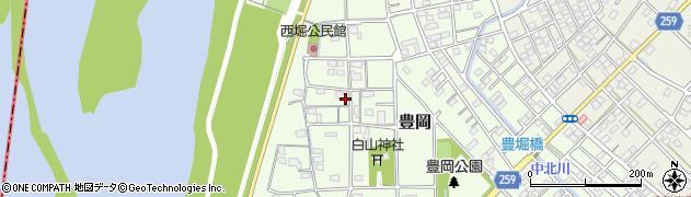 静岡県磐田市豊岡(西堀)周辺の地図