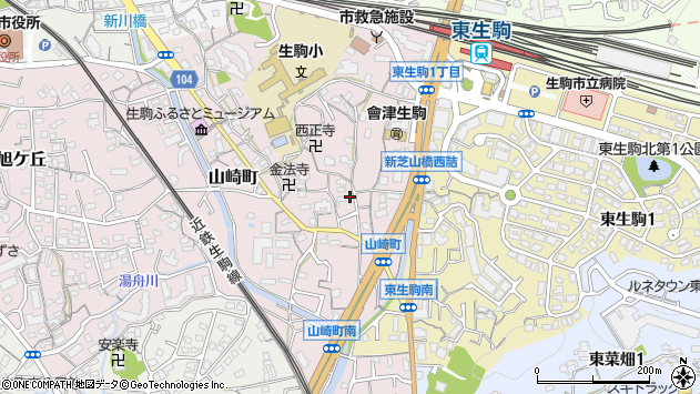 〒630-0252 奈良県生駒市山崎町の地図