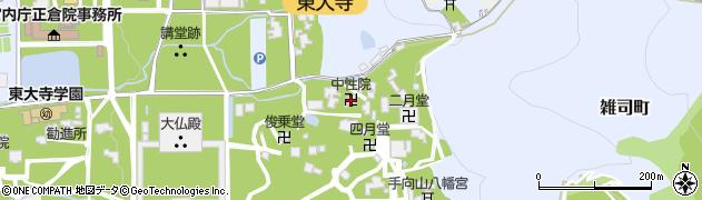 中性院周辺の地図