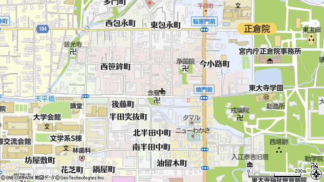〒630-8292 奈良県奈良市中御門町の地図