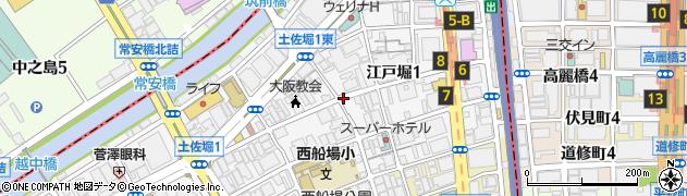 大阪府大阪市西区江戸堀周辺の地図