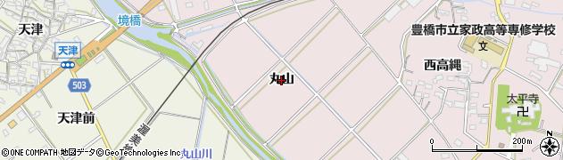 愛知県豊橋市老津町(丸山)周辺の地図