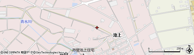 愛知県豊橋市老津町(池上)周辺の地図