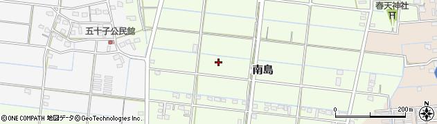 静岡県磐田市南島周辺の地図
