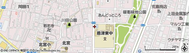 大阪府東大阪市川田周辺の地図