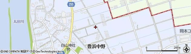 静岡県磐田市豊浜中野周辺の地図