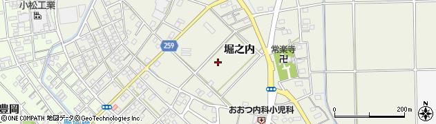 静岡県磐田市堀之内周辺の地図
