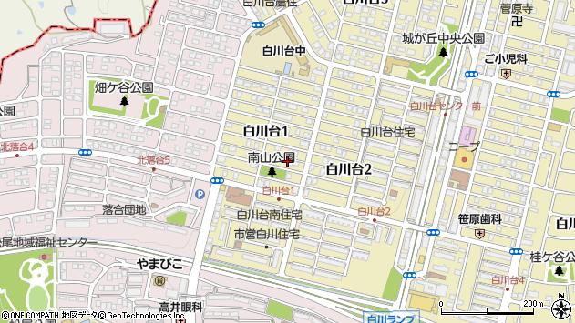 〒654-0103 兵庫県神戸市須磨区白川台の地図
