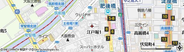 大阪府大阪市西区江戸堀1丁目周辺の地図