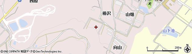 愛知県田原市片浜町(椿沢)周辺の地図