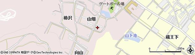 愛知県田原市片浜町(山畑)周辺の地図